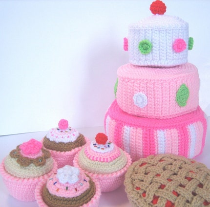 Play Food Crochet Pattern -- Just Desserts