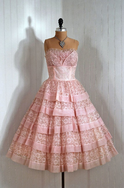Vintage Wedding Dresses Pink : Wedding dress ball gown from kona riley vintage