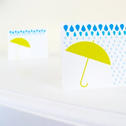 Showers - Printable NoteCard, Stationery, and Gift Card Set