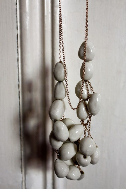 to know you - No. 1 Necklace Porcelain and Chain