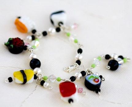 glass sushi bracelet