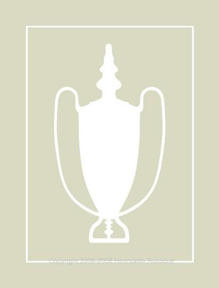 Trophy Silhouette White - 8x10 Print