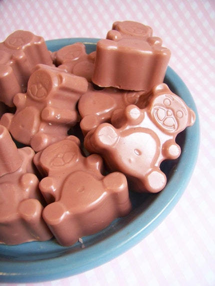 Mini Hazelnut Cappuccino Teddy Bear Soaps