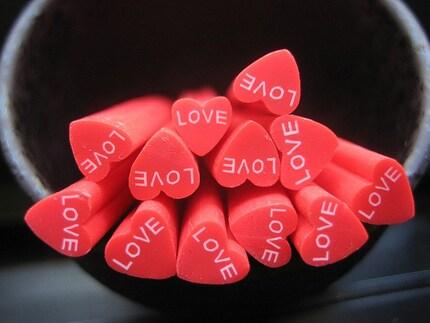 heart. love. miniature. nail art