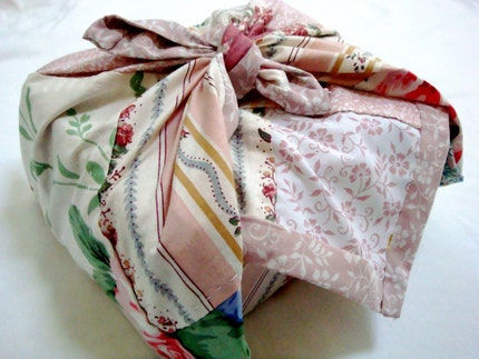 Eco-Friendly Handstitched Vintage Furoshiki Cloth Wrap
