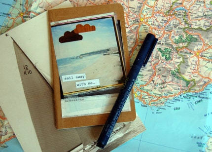 Sail Away With Me Plain Moleskine Notebook