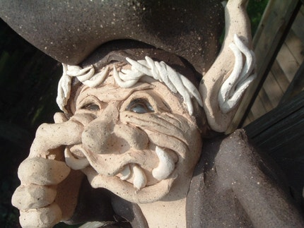 Nasty Gnome Nose Picking Figurine