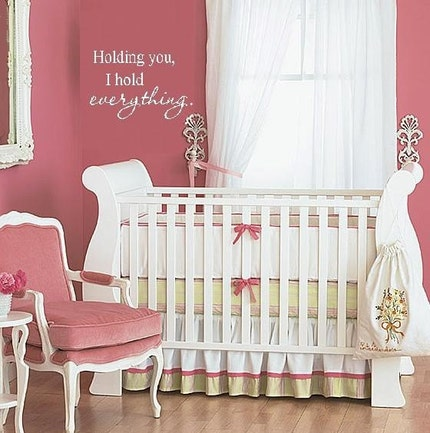 Holding You, I Hold Everything Vinyl Lettering Wall Decal