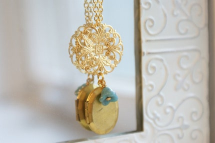 Golden Lace Locket