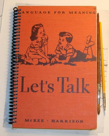 Handmade Vintage Journal, Diary, Notebook, Sketchbook - Let's Talk