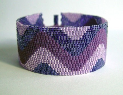 Purple Squiggles Cuff Bracelet