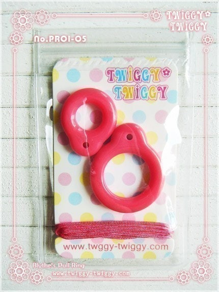 Twiggy Twiggy Blythe Pull Ring Cherry Red PR0105 by t2tsquare