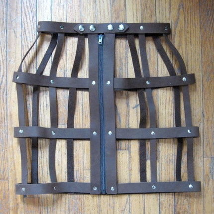 The Leather Cage Skirt - Custom Order