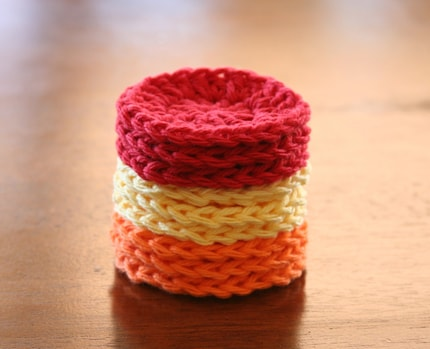 Autumn Colors Cotton Face Scrubbies Set of 9 Free U S Shipping by OlliesBoutique on Etsy from etsy.com