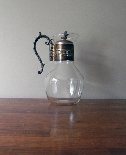 Mid Century Glass Carafe
