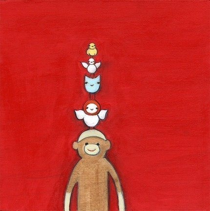 sock monkey tree