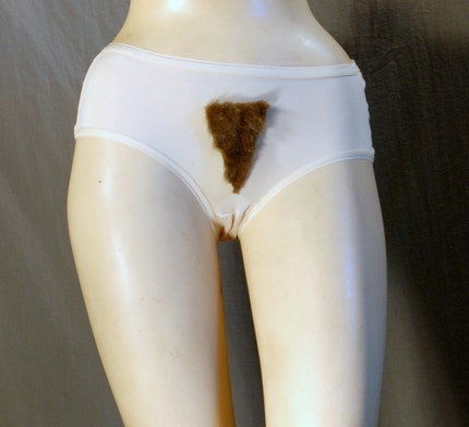Merkin Hairy Panties  Size Large