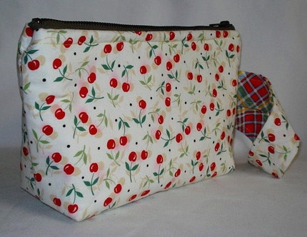 Sweet Summer Cherries Wristlet --- White --- VLV,  Rockabilly by WolfBait on Etsy from etsy.com