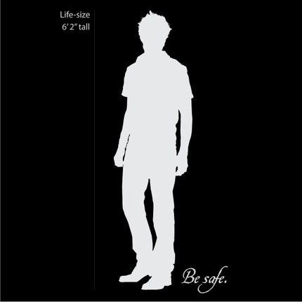 Edward Cullen Life Size Twilight Silhouette Vinyl Wall Decal