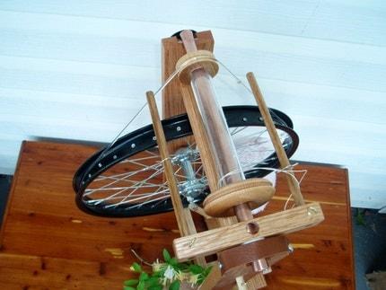 Handmade, Modern, Spinning Wheel - Fidelis (Faithful) by Heavenly Handspinning