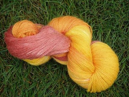 Marigolds -- Merino/Alpaca/Nylon Hand Painted Sock Yarn