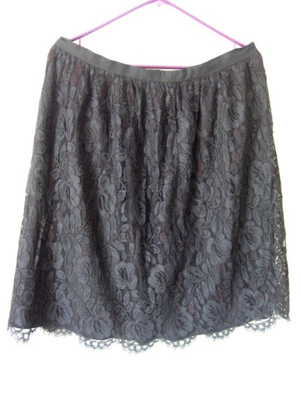 Vintage Very Sweet Black lace skirt