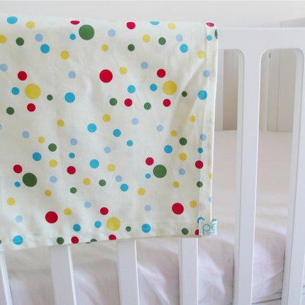 Baby's CRIB-BASSINET-COT top sheet, spotty