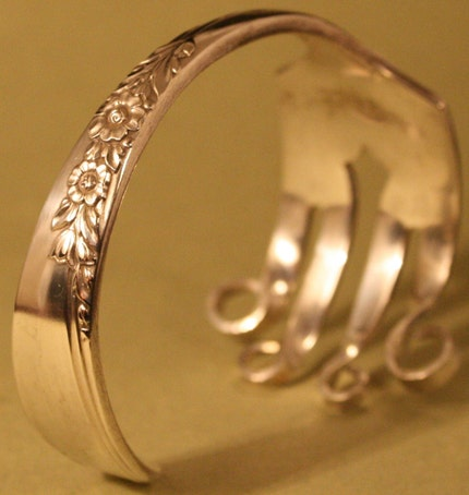 Country Lane 1954 Handmade FORK BRACELET is part of a complete line of Spoon Ring Jewelry