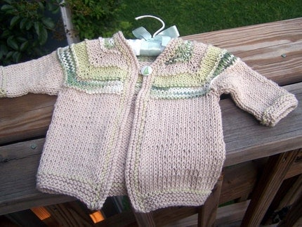 Baby Boy Organic Cotton Sweater