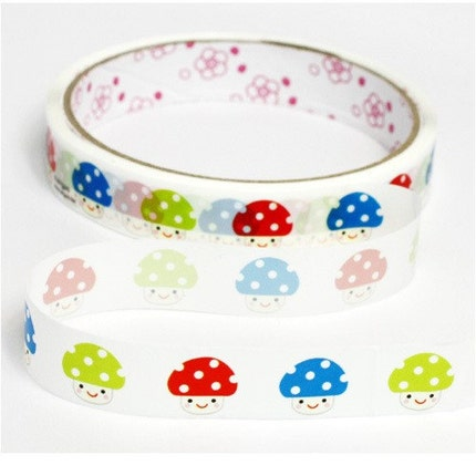 Colorful Mushroom Deco Cellophane Adhesive Tape Decor Deco Tape Scrapbook Ribbon Sticker