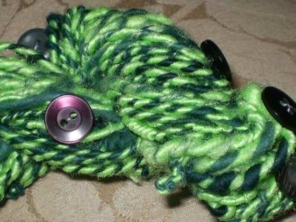 Coraline Black Light Handspun Yarn Just in Time for Halloween