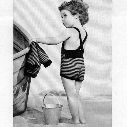 1930s Children's Sun Suit and Cardigan PDF Vintage Knitting Pattern VPH171
