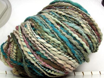 Squish-tastic - Andromeda - HandDyed HandSpun Bulky 2ply Yarn 105 yards 5.1 oz merino wool silk