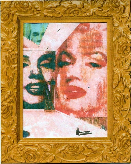 painting marilyn monroe photo reproduction