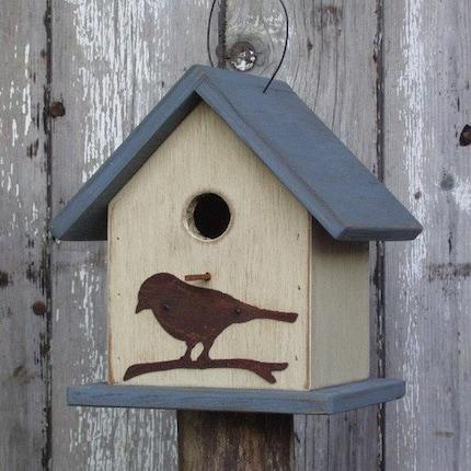 Cottage Wren House Metal Bird Cut-Out