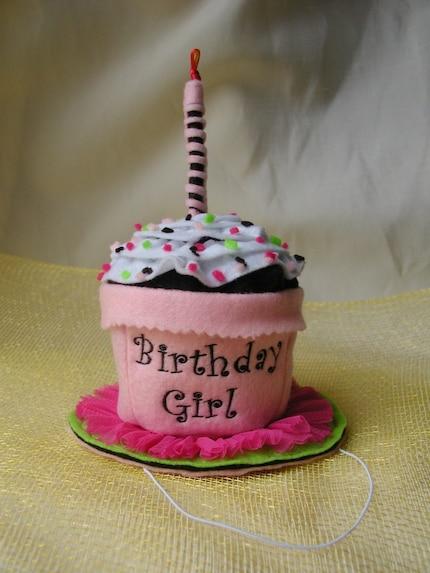 Cupcake Birthday Hat