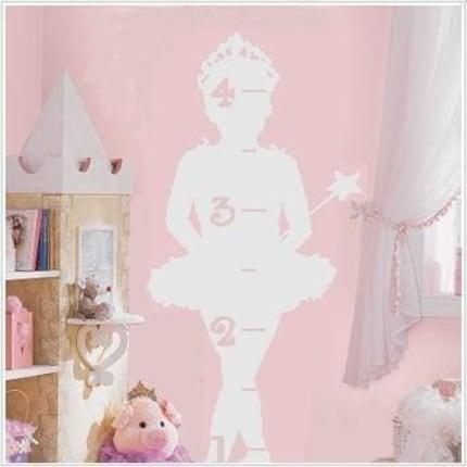 Princess Ballerina Growth Chart Vinyl Decal