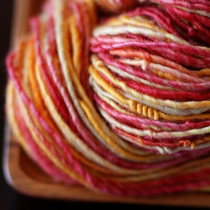 Autumnal - 88 yards BFL handspun yarn