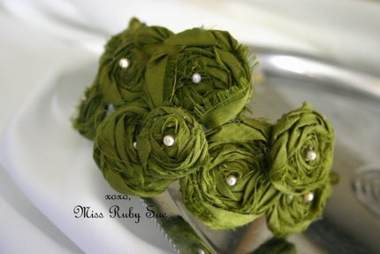 LOLA- hairpiece in beautiful olive- perfect for fall and autum hair art