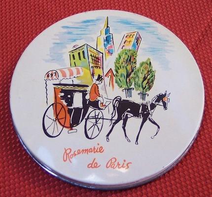 RARE VINTAGE 1940s ROSEMARIE DE PARIS CANDY TIN