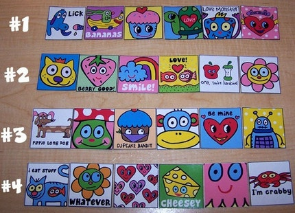 Cute and Fun Pop Art Magnet Sets You Pick