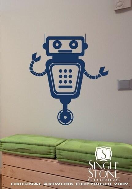 Robbie Robot Vinyl Wall Decals Stickers Art Graphics