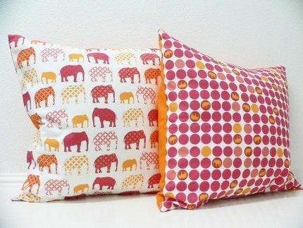 Pillow Cover  - Original Fabric - Pachyderm Dots
