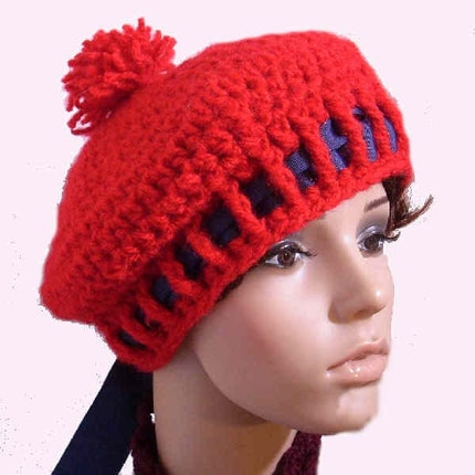 Free Crochet Patterns For Tam Hats :  CROCHET HAT PATTERN TAM