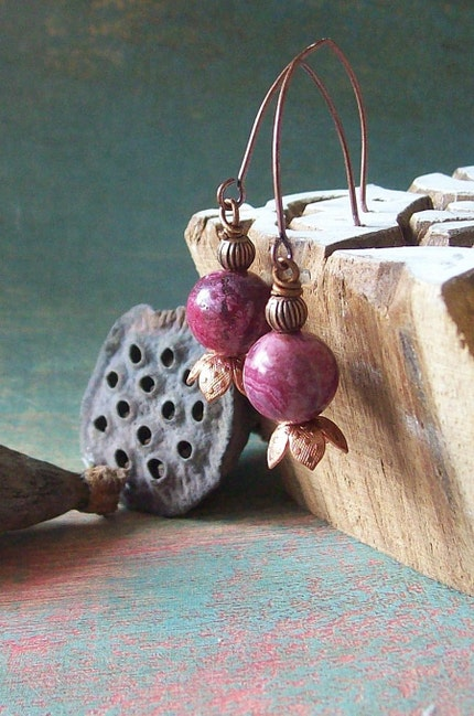 Petite Pink Princes of the woods   earrings
