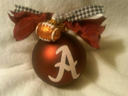 University of Alabama Crimson Tide Ornament Hand Painted