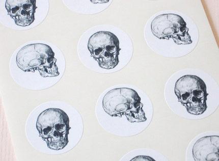 One Inch Skulls Round Seals