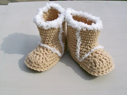 Baby Uggs  -  Beige  -  3 to 6 months