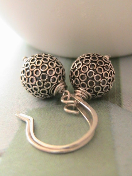 Silver Circles - Sterling Silver Earrings