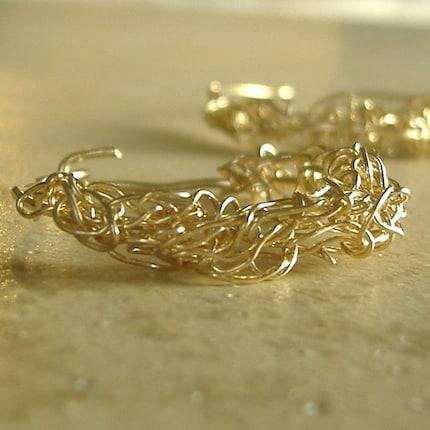 14 Karat Gold Fill Hoop Earrings